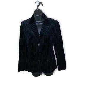Lauren Ralph Lauren Pinstripe Velvet Blazer Sz 10